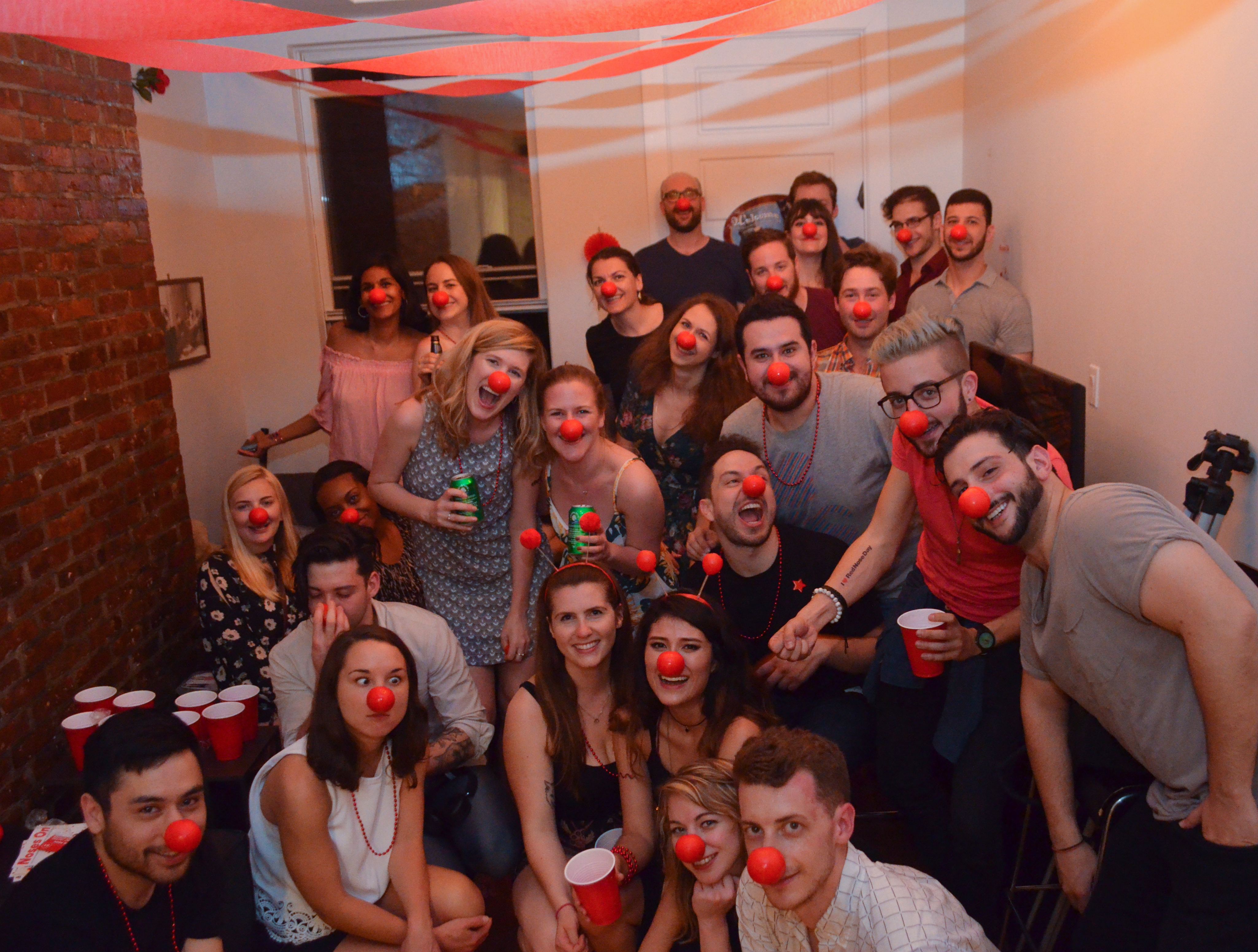 fundraising ideas - Red Nose Day House Party