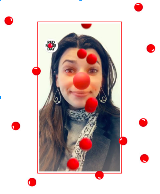 Red Nose Day Snap Chat filter