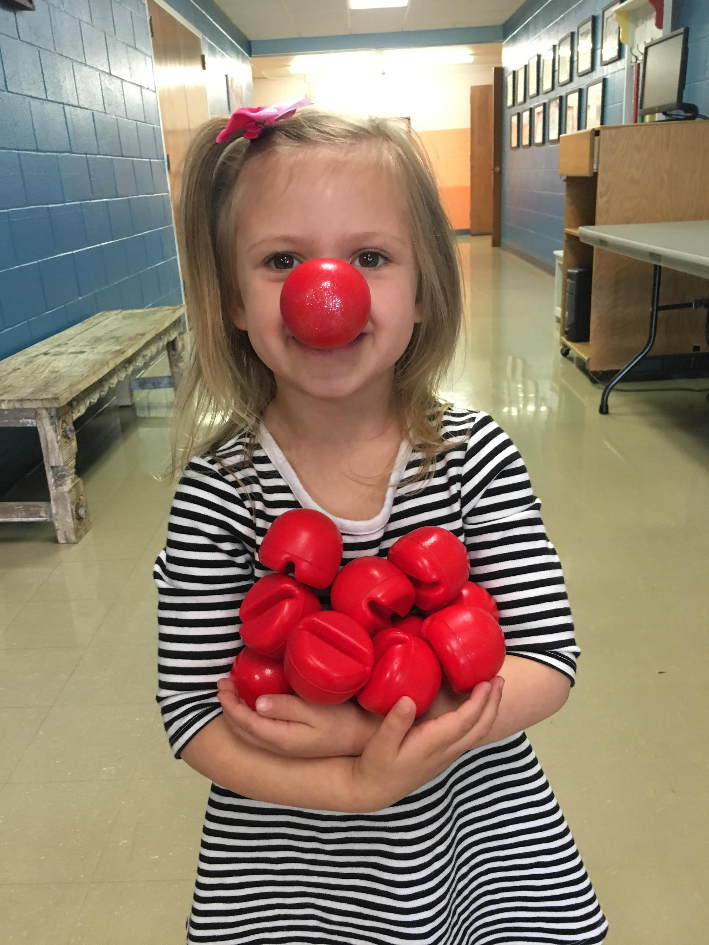 Bring Red Noses for your whole class.