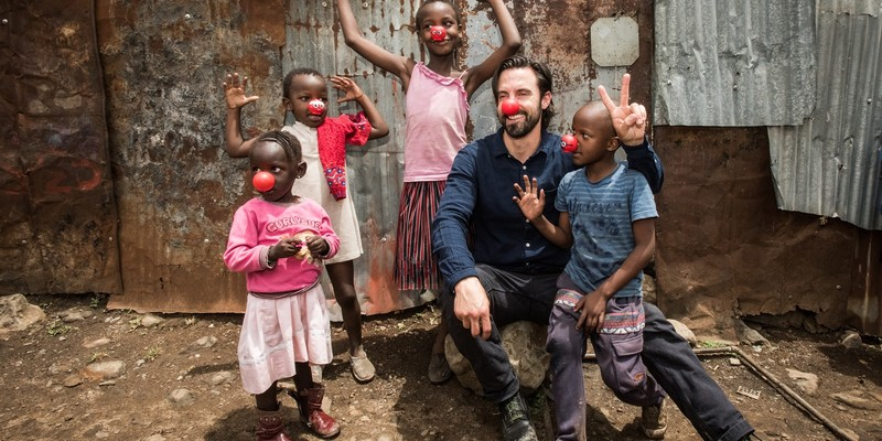 Milo Ventimiglia travels to Kenya with Red Nose Day