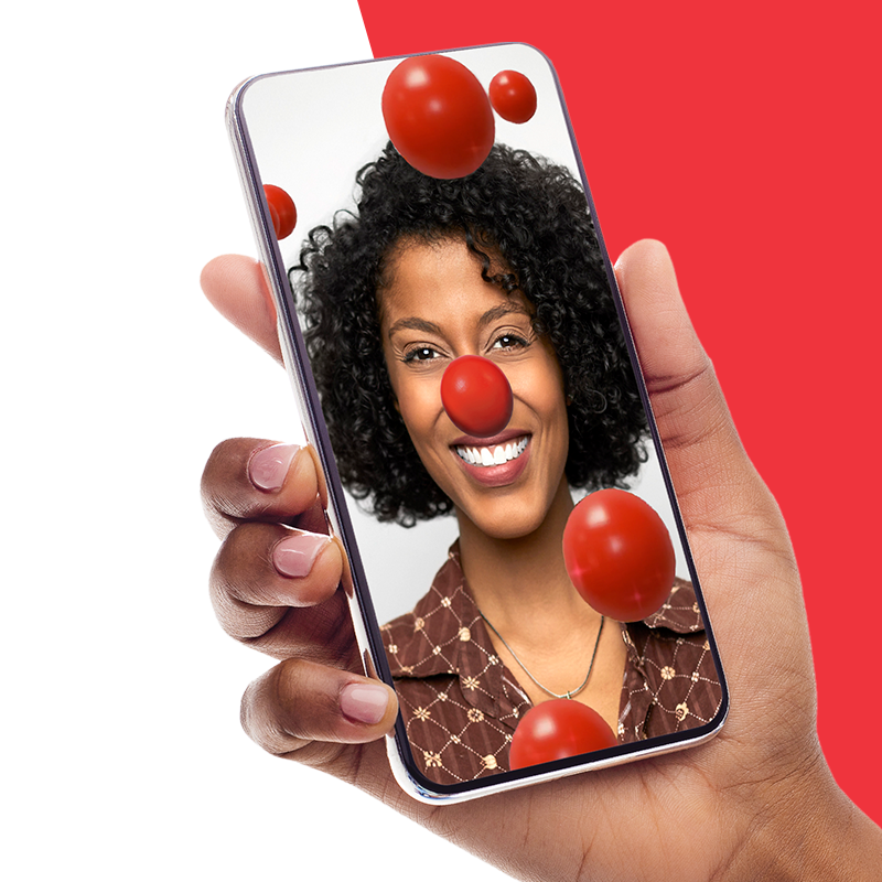 Unlock your digital Red Nose for Red Nose Day