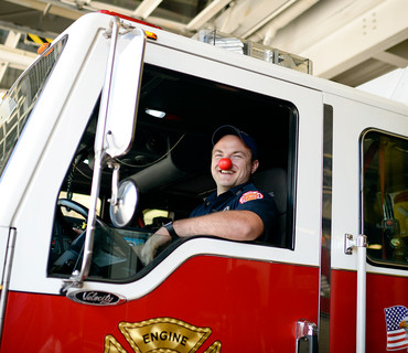 Red Nose Day firefighter