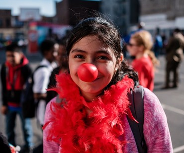 Little girl in Red Nose