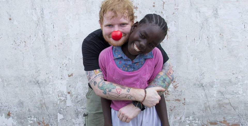 Ed Sheeran Meets Peaches in Liberia