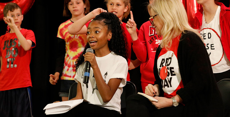 Skai Jackson Red Nose Rally