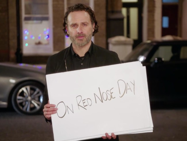 Andrew Lincoln & the cast of Red Nose Day Actually – the Love Actually reunion made to benefit children living in poverty in support of Red Nose Day – tell the story of their first loves.